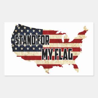 Suporte para minha etiqueta da bandeira americana
