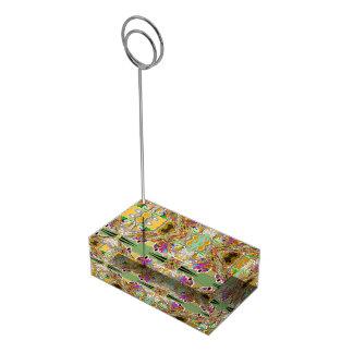 Suportes Para Cartao De Mesa Abstrato em cores da jóia