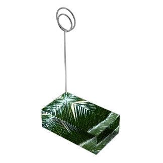Suportes Para Cartao De Mesa Abstrato tropical de sobreposição do verde das