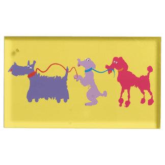 Suportes Para Cartão De Mesa Cães engraçados com ligação