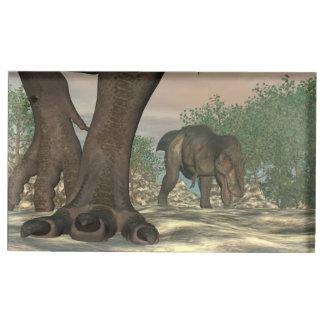 Suportes Para Cartão De Mesa Pés do dinossauro do rex do tiranossauro - 3D