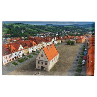 Suportes Para Cartão De Mesa Praça da cidade velha em Bardejov, Slovakia