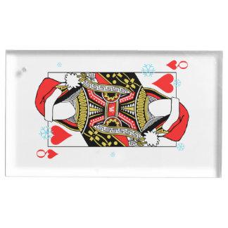 Suportes Para Cartão De Mesa Rainha do Feliz Natal dos corações - adicione suas