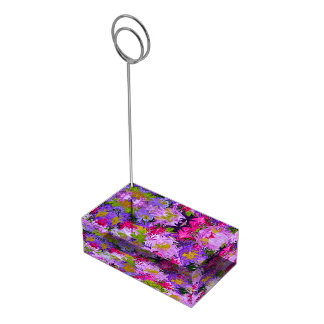 Suportes Para Cartoes De Mesa Buquê do design floral da arte abstracta das cores