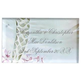 Suportes Para Cartões De Mesa Casamento branco do vestido das noivas