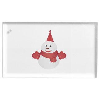 Suportes Para Cartões De Mesa Desenhos animados do boneco de neve