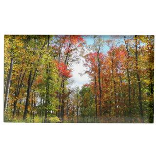 Suportes Para Cartões De Mesa Fotografia da natureza do outono das árvores da