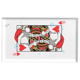 Suportes Para Cartões De Mesa Rei do Feliz Natal dos corações - adicione suas
