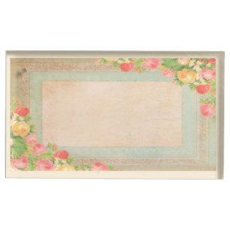 Suportes Para Cartões De Mesa Rosas elegantes do vintage que Wedding