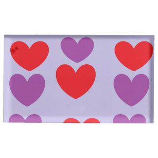 Suportes Para Cartoes De Mesa titular do cartão da mesa do coração
