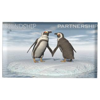 Suportes Para Cartoes De Mesas A amizade é essentailly uma parceria