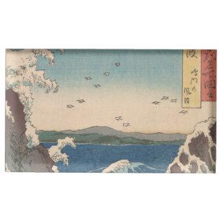 Suportes Para Cartões De Mesas Arte de Hiroshige do japonês do redemoinho de
