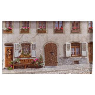 Suportes Para Cartoes De Mesas Casa na vila do Gruyère, suiça