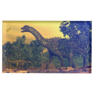 Suportes Para Cartões De Mesas Dinossauros do Ampelosaurus