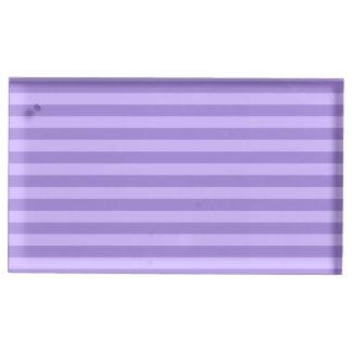 Suportes Para Cartões De Mesas Listras finas - violetas e claras - violeta