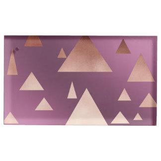 Suportes Para Cartoes De Mesas teste padrão geométrico dos triângulos do ouro
