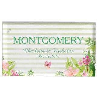Suportes Para Cartões De Mesas Titular do cartão Wedding da mesa das flores | da