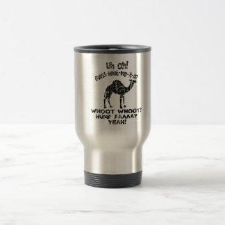Suposição do camelo do dia de corcunda do vintage caneca térmica