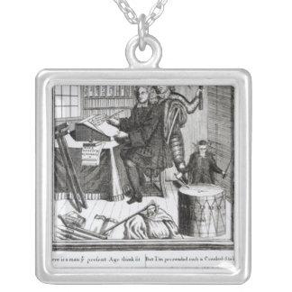 Suposição em meu significado, 1709 colar com pendente quadrado