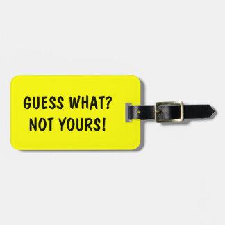 Suposição engraçada do Tag | da bagagem do viagem  Etiqueta Para Bagagem