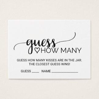 Suposição preta da caligrafia quanto beijam cartão de visitas