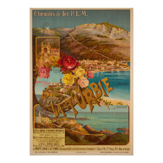 Sur Monte de Turbie do La - poster das viagens