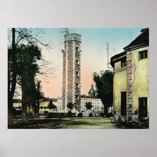 Sur Saone de Chalons, torre de água Poster