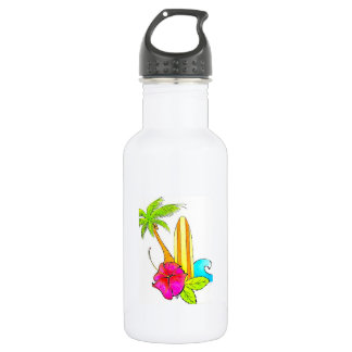 Surf acima da garrafa de água