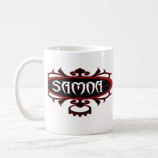 Surf Ava de Samoa (vermelho/preto) Caneca De Café