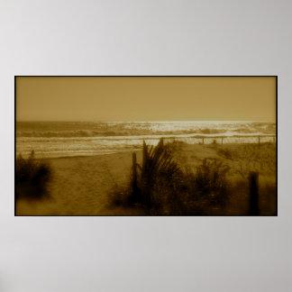Surf da cidade do oceano pôster