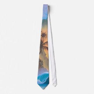 Surf da praia da baía de Hanalei Gravata