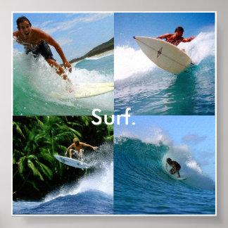 surf para a vida pôster