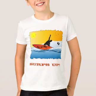 Surfar ascendente do surf camiseta