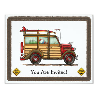 Surfar bonito arborizado convite 10.79 x 13.97cm