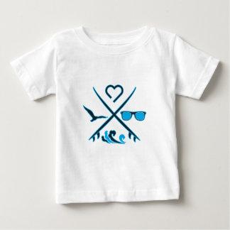 Surfar Camiseta Para Bebê