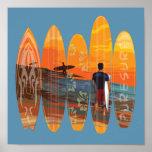 Surfar puro pôsteres