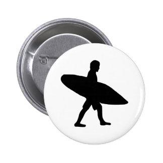 Surfar - surfista bóton redondo 5.08cm