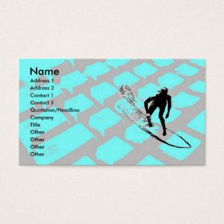 Surfin o cartão de visita líquido