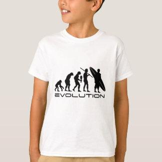 Surfista da evolução camiseta