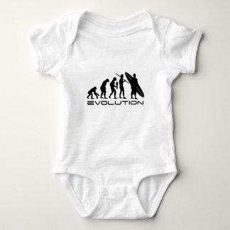 Surfista da evolução t-shirts