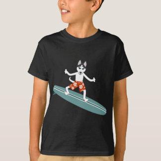 Surfista de Longboard do rouco Siberian Camiseta