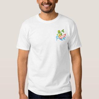 Surfista de Sammy - tubarão azul T-shirts