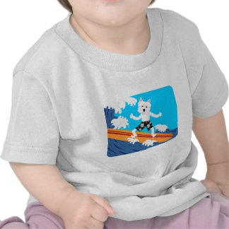 Surfista de Terrier branco de montanhas ocidentais Camiseta