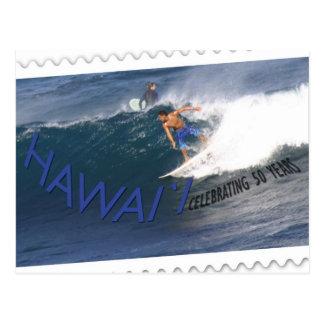 Surfista do cartão do aniversário do statehood