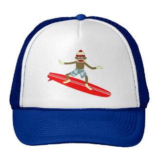 Surfista do macaco da peúga boné