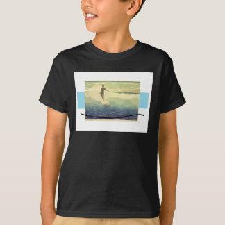 Surfista do vintage camiseta