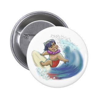 Surfista havaiano bóton redondo 5.08cm