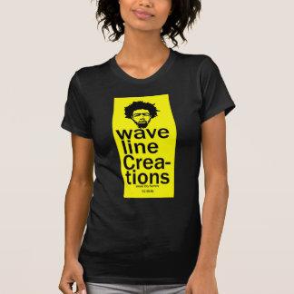 surfista urbano da cidade das criações do waveline t-shirt