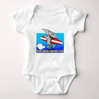 Surfistas do tubarão body para bebê