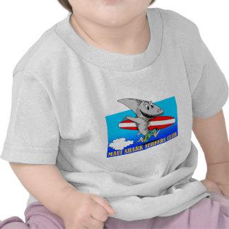 Surfistas do tubarão camisetas